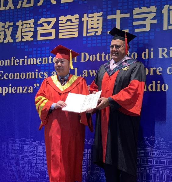 Rector Eugenio Gaudio Receives an Honorary Doctoral Degree from the People