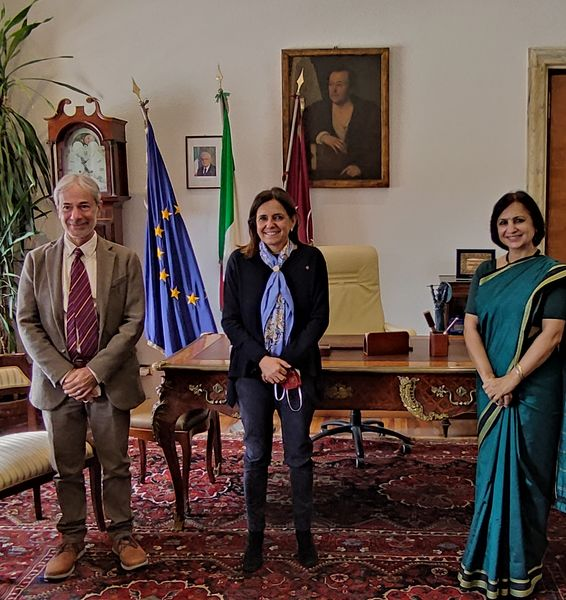 The Rectress meets the Indian Ambassador to Italy