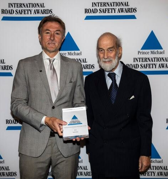 "Il premio ""Prince Michael International Road Safety Award"" a Luca Persia"