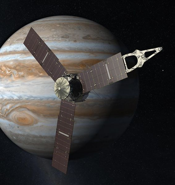 The depth of Jupiter's winds measured by the probe Juno