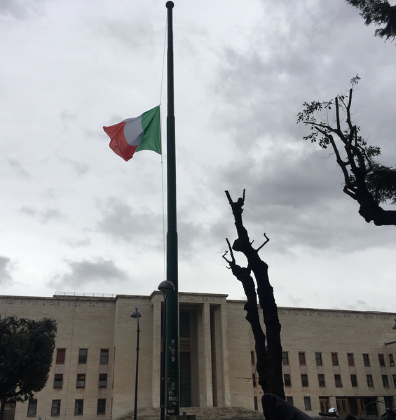 Day of remembrance, Italian flag at half-staff on February 10, 2021, in memory of the foibe victims